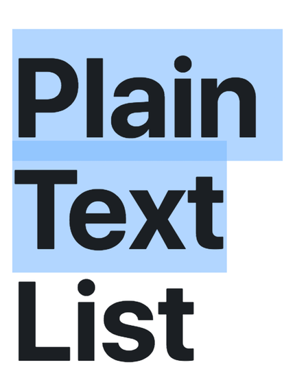 Plain Text List: Easily copy and paste-able lists for all