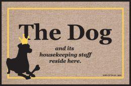 Funny Dog Housekeeping Staff Olefin  Indoor/Outdoor Doormat