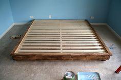 Build A King Size Platform Bed Platform Beds In 2019 Diy Bed