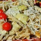 Farfalle Pasta with Artichoke Hearts Recipe....think I might add some chicken to it
