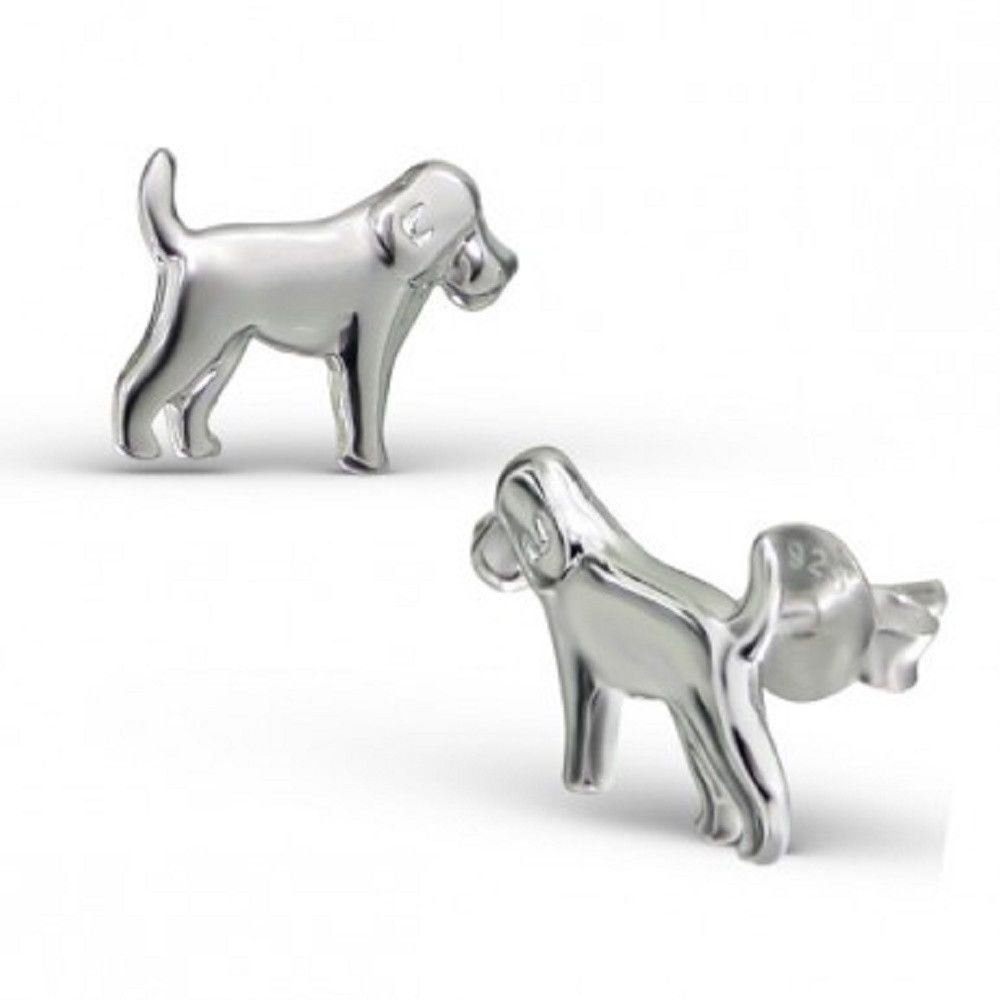 Canine Labrador 925 Sterling Silver Dog Earrings yxyVaE9