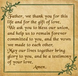 Prayer For Wedding Reception
