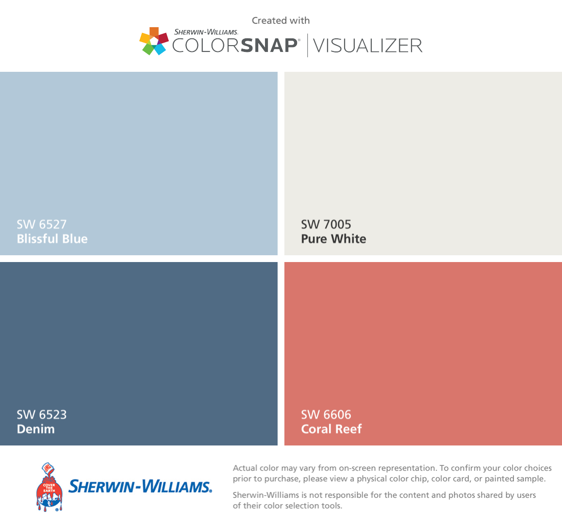 Sherwin Williams Exterior Final Blissful Blue For Upper Two Floors Denim For Ground Level Pure White Paint Colors For Home Paint Colors Accessible Beige