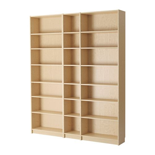BILLY Bookcase, birch veneer, 78 3/4