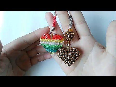 How to bead funny acceceroy: heart-shaped(pattern 5) 1/2 - YouTube