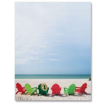 Christmas Paradise Letter Paper  Idea Art  Fun In The Sun