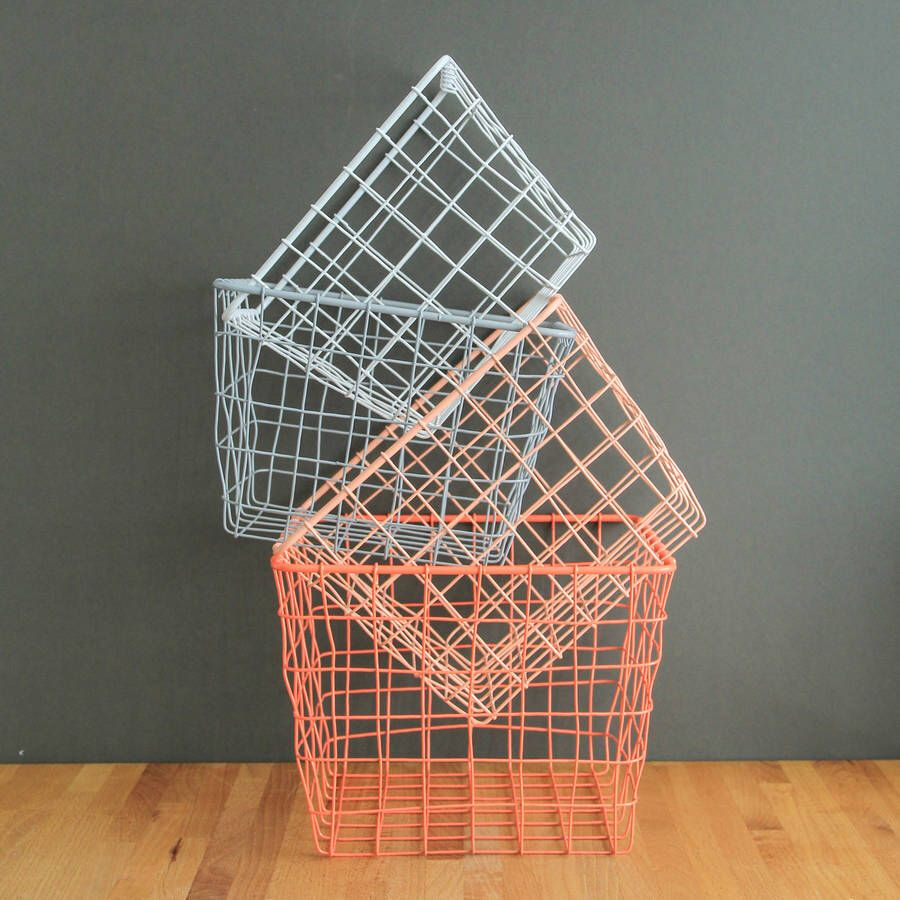 Four Small Storage Basket Nest Small storage basket