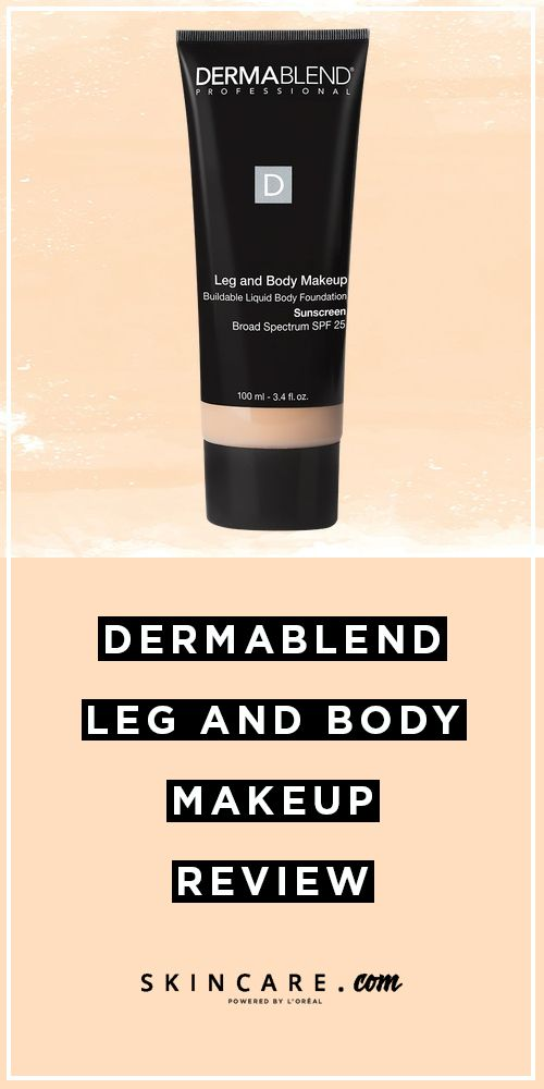 Dermablend Leg And Body Makeup Review Skincare Com By L Oreal Body Makeup Makeup Reviews Dermablend