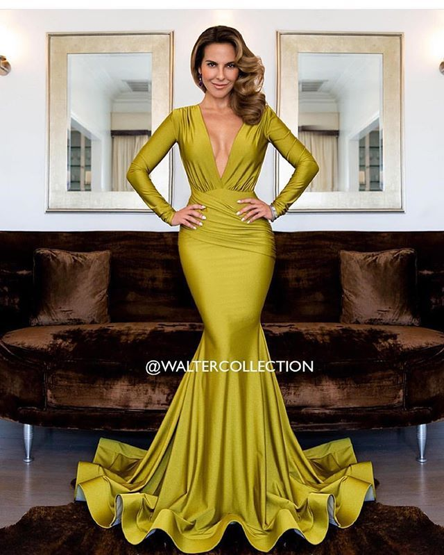 katedelcastillo in the #WalterCollection Olga gown. Photo by ...