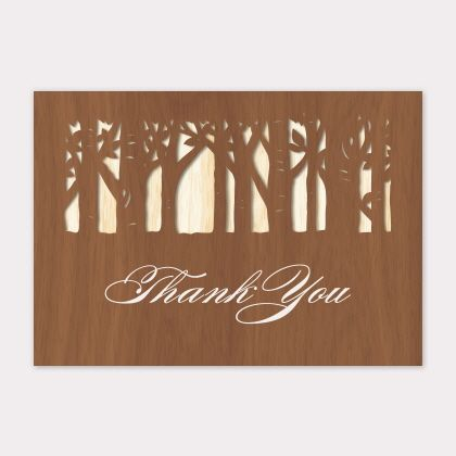 Into the Woods Laser Cut by B Wedding Invitations
