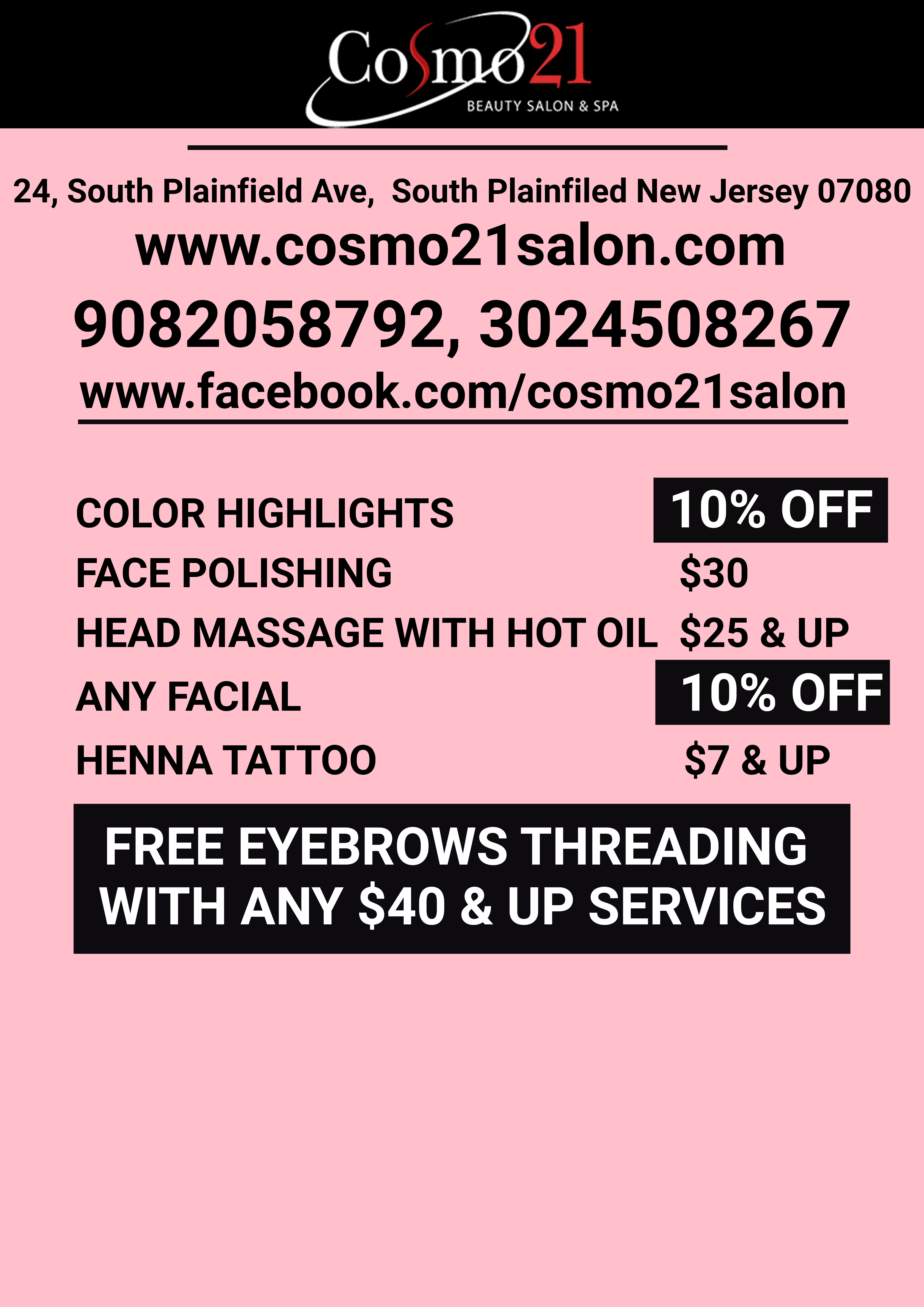 Visit Cosmo21 Beauty Salon Spa And Enhance Your Beauty At Best