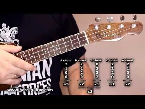 ac dc highway to hell ukulele lesson how to play tutorial with tabs chords and lyrics angus. Black Bedroom Furniture Sets. Home Design Ideas