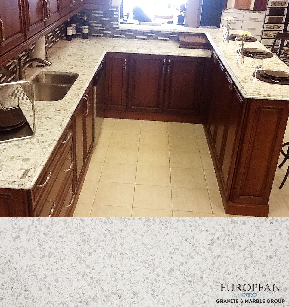 Non Granite Kitchen Countertops This Kitchen Countertop Features Serra From Our Quartz Line