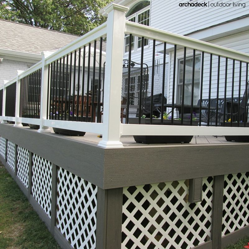 Nowadays There S No Shortage Of Deck Rail Baluster Choices Wood To Wrought Iron Aluminum To Steel And Tempere Deck Balusters Deck Skirting Building A Deck