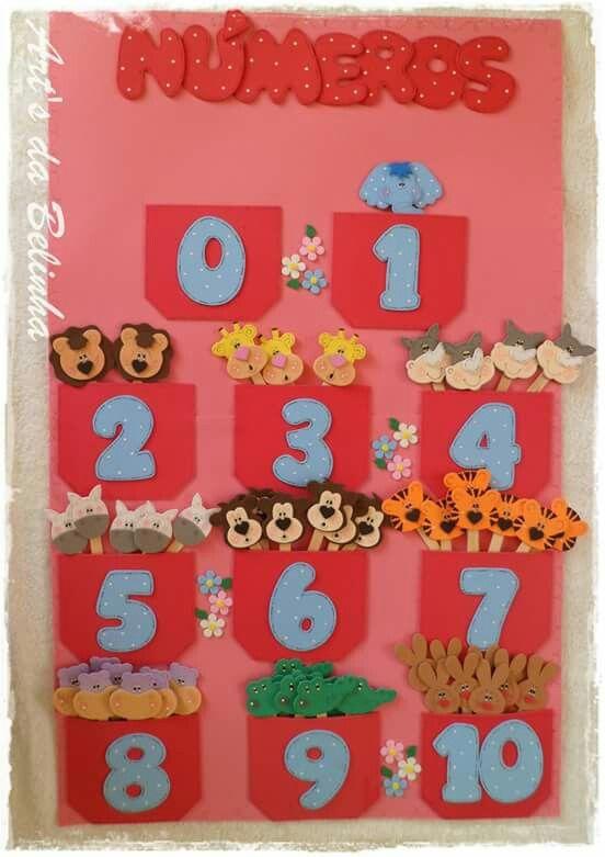 Numeros Manualidades Decoracion Preescolar Libros De Tela Para Ninos