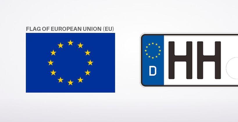 Number Plate Maker Near Me >> Eu Flag On Germany Car License Plate License Plate Maker