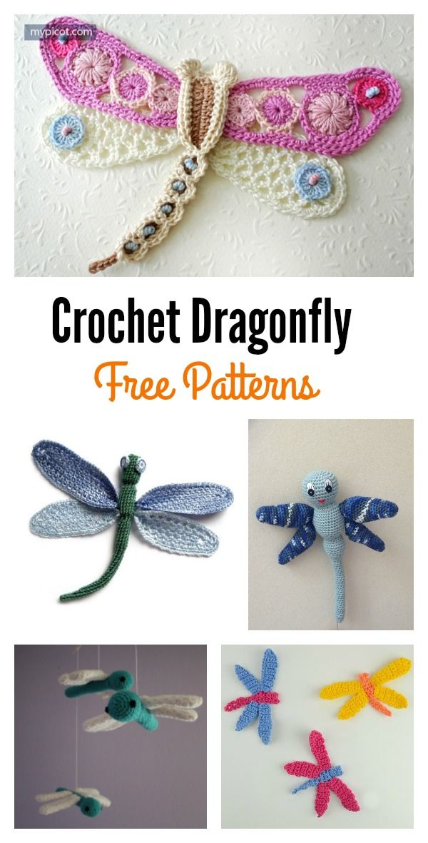 Free Crochet Dragonfly Patterns Crochet Pinterest Crochet