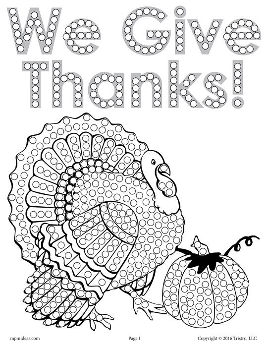 FREE Thanksgiving Turkey Q-Tip Painting Printable