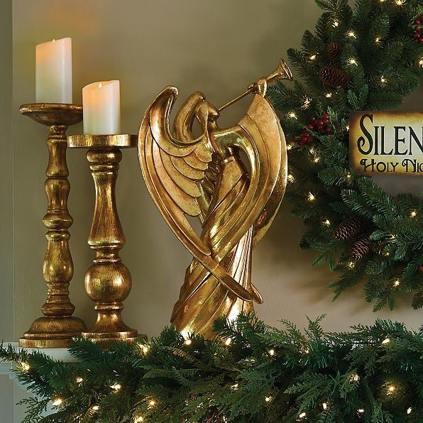A Trumpet Playing Angel Christmas Decoration Gracefully
