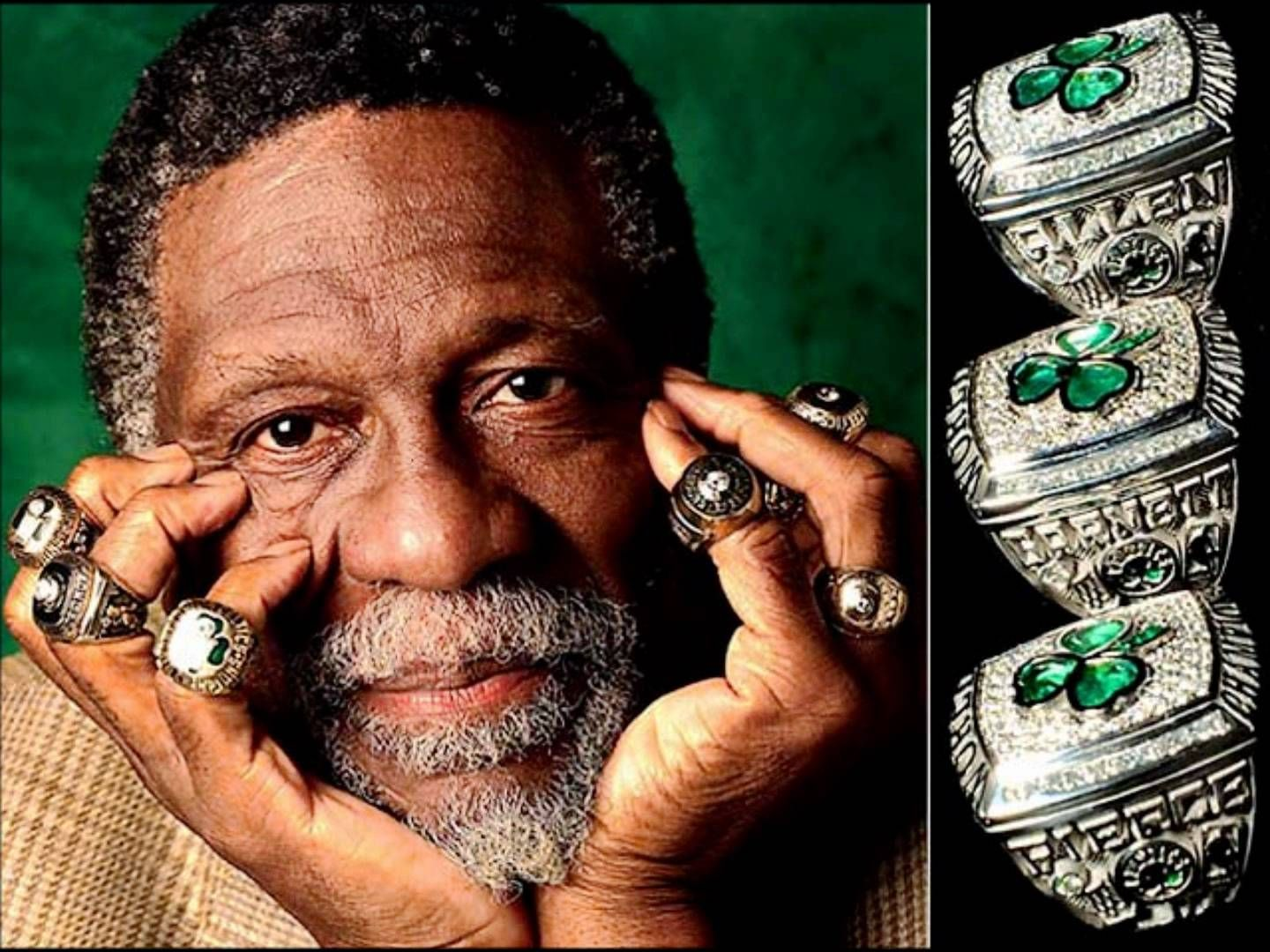 bill russell rings 11 for 13 yrs