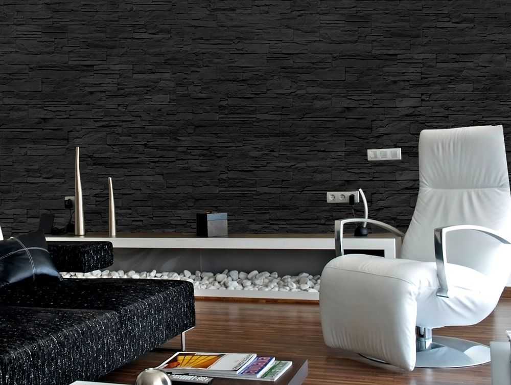 Black Stone   Like Strata Wall Panel. Insulation: (interior And Exterior)  Resistant