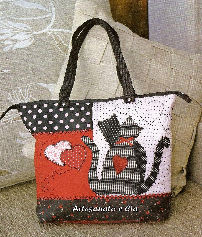 Bolsa Em Tecido Patchwork Passo A Passo : Artesanato e cia bolsa em patchwork com patchcolagem