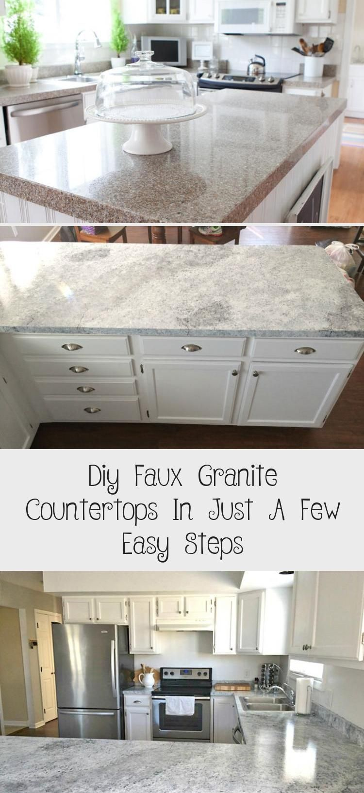 Learn How To Make Faux Granite Countertops To Makeover Your Kitchen On A Budget Step By Step Tutoria Faux Granite Countertops Granite Countertops Faux Granite