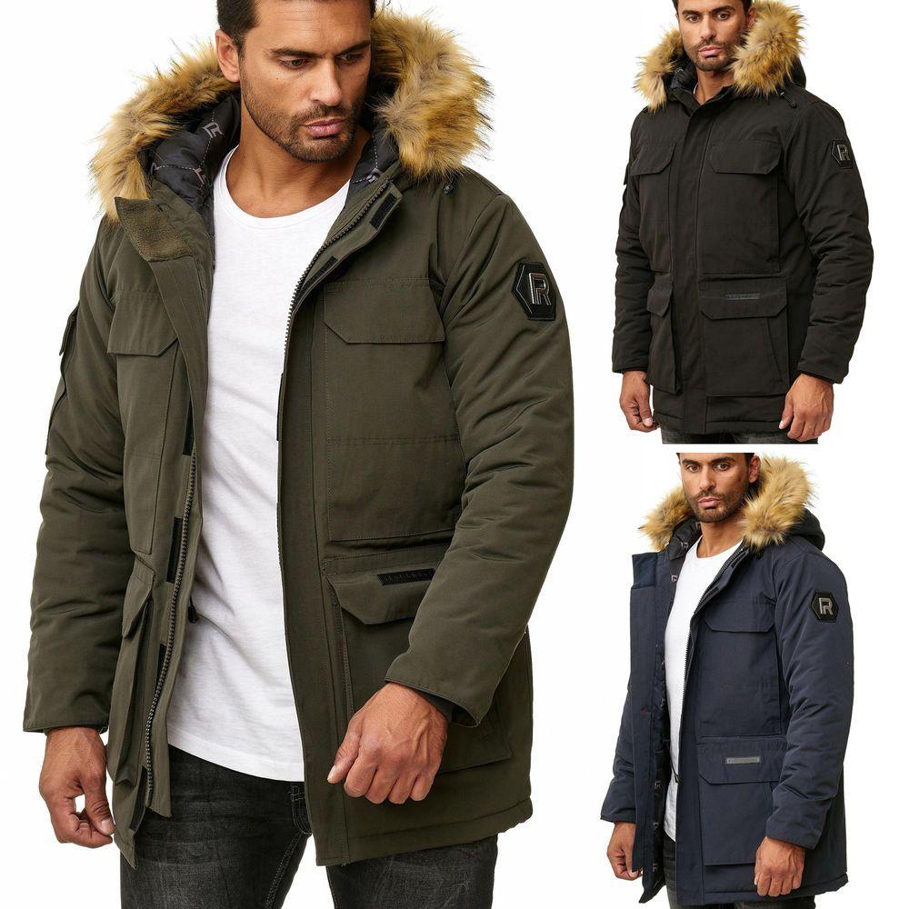 Redbridge Herren Winterjacke Parka Mantel Warme Winter Funktions Jacke Outdoor Shortes
