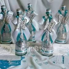 Resultado de imagen para centros de mesa de xv con botellas de vino