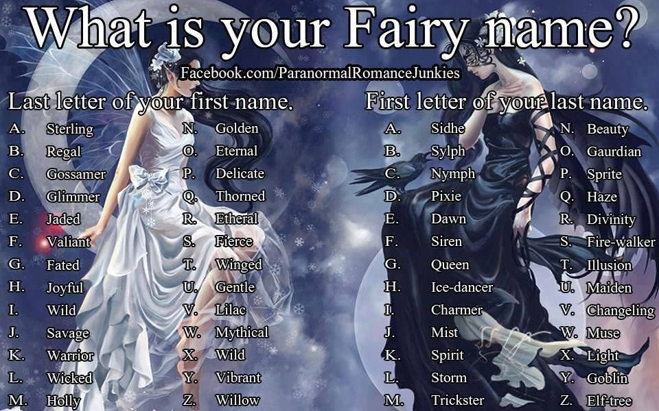 What is your fairy name? Jaded Storm) What is your name