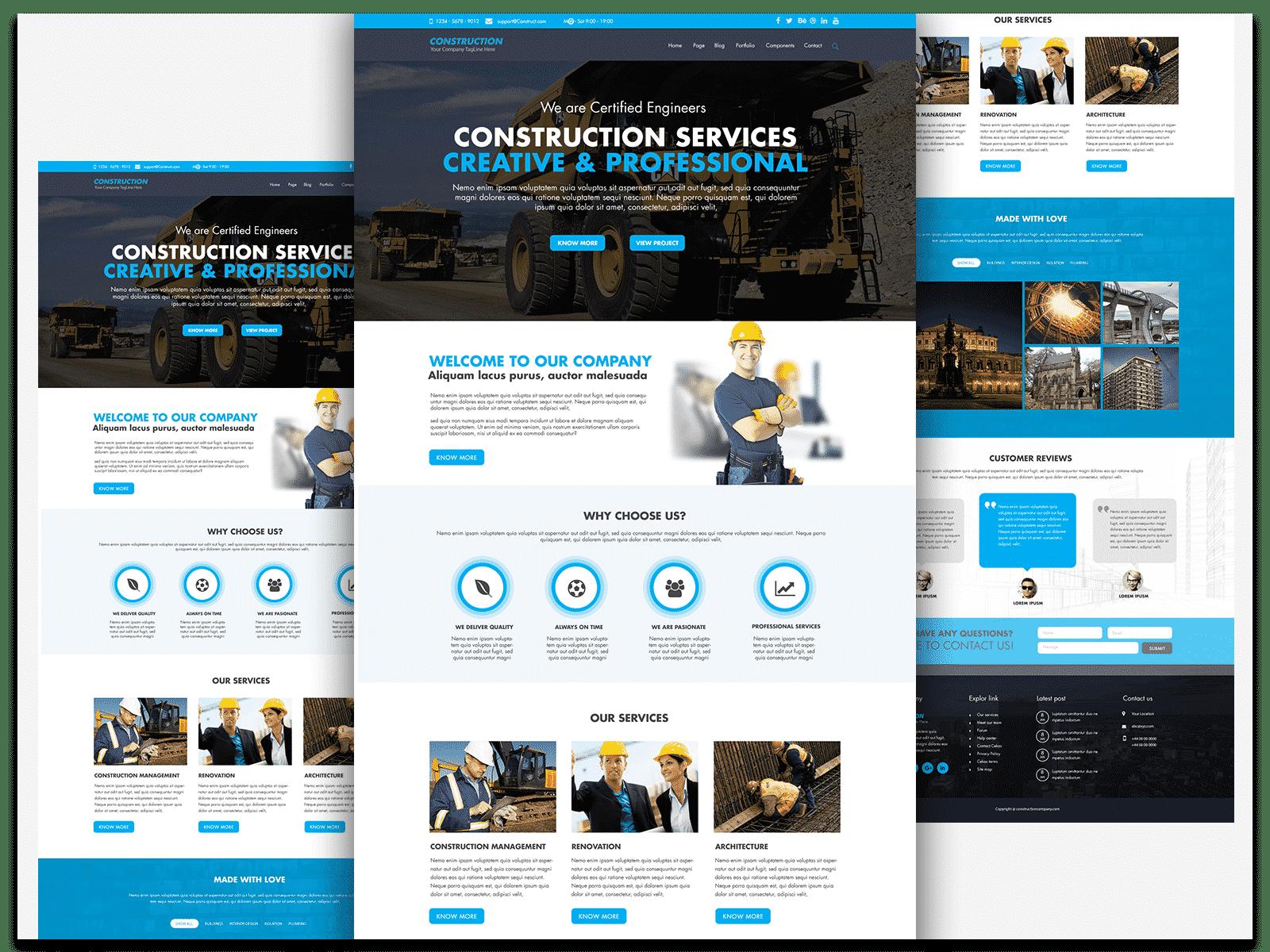 Psd Junction Website Mockup Website Design Free Construction