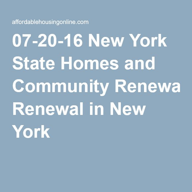 New York State Homes and Community Renewal, New York, New ...