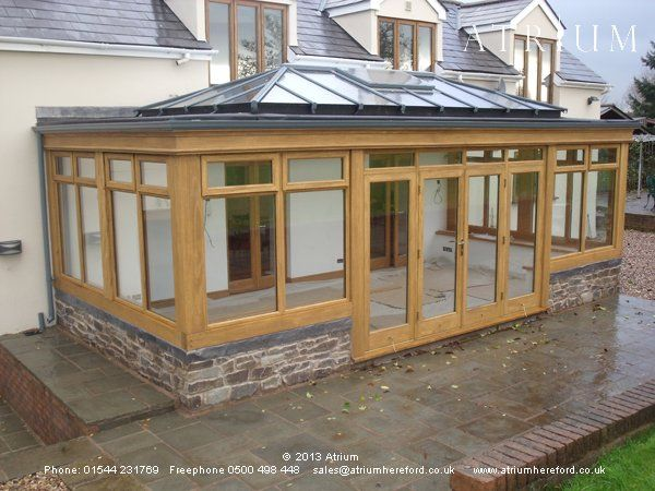 Orangery extension pinterest for Timber frame sunroom addition