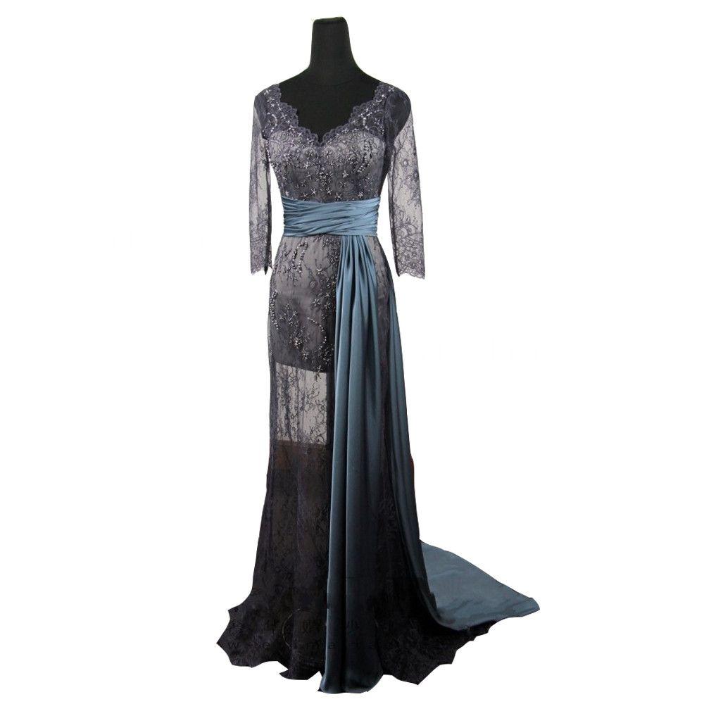 Evening dress robe de soiree gossip girl blake lively long sleeves