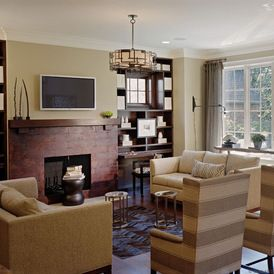 modern touches in an arts & crafts living room