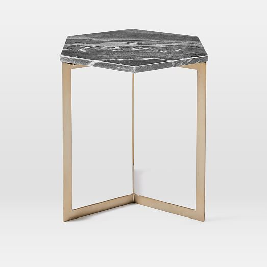 Hex Side Table Antique Br West Elm