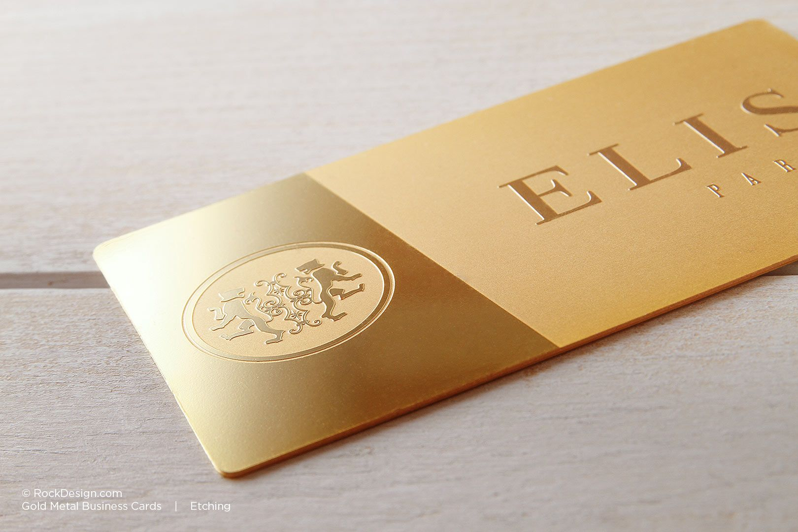 Gold Metal Business Cards | RockDesign Luxury Business Card Printing ...