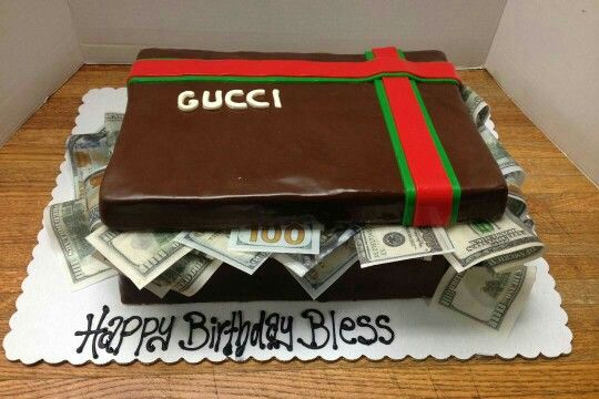 Gucci Box With Money Birthday Cake With Images Shoe Box Cake