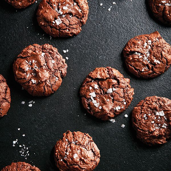 This double chocolate brownie cookie strikes the perfect balance between fudgy chew inside and crisp crackle outside. Be warned: They're highly addictive!