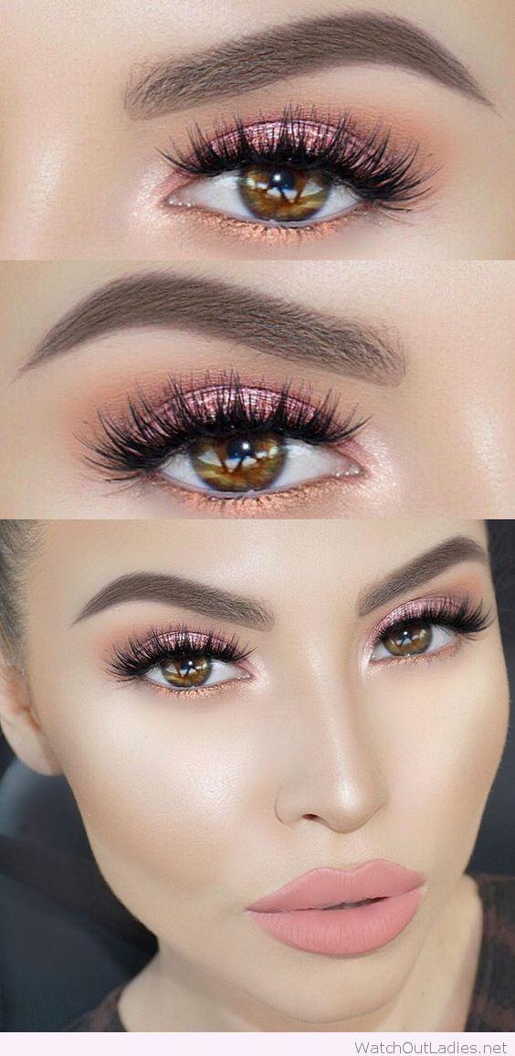 Light Pink Glitter Eye Makeup For Brown Eyes My Makeup Challenge