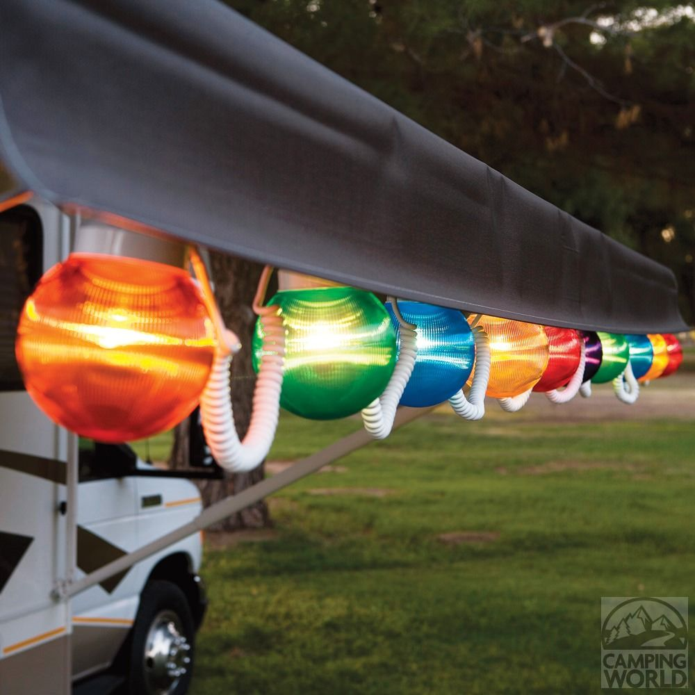 Great Multi Color Prismatic Globe Lights With White Cord   10 Globes   Polymer  1661