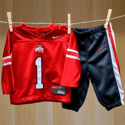 Ohio State Baby Replica Jersey Jog Set Nike Ncaa College Baby