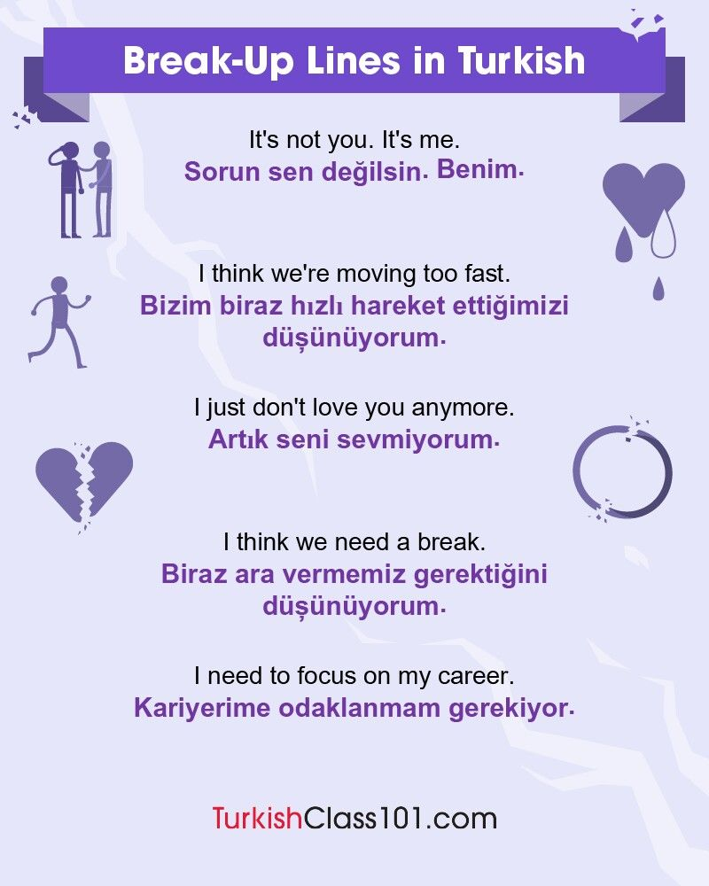 Break Up Lines In Turkish Learn Swedish Learn Swedish Online Swedish Language