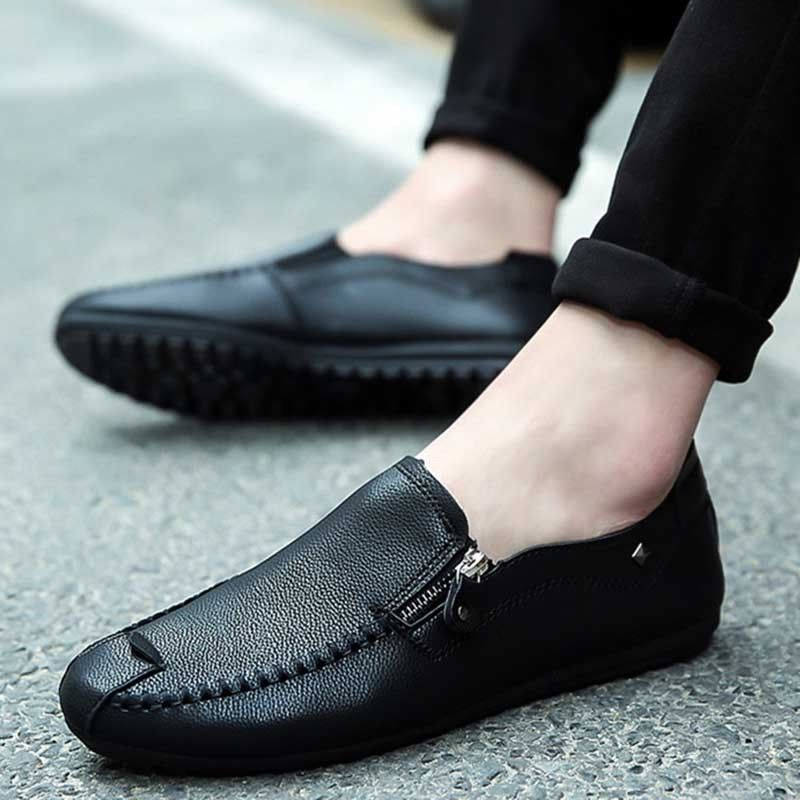 Soft Leather Men Loafers Casual Shoes Men Moccasins Breathable Leather Flat Shoe
