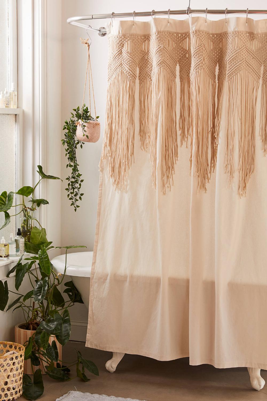 Macrame Shower Curtain Urban Outfitters Curtains Small Bathroom