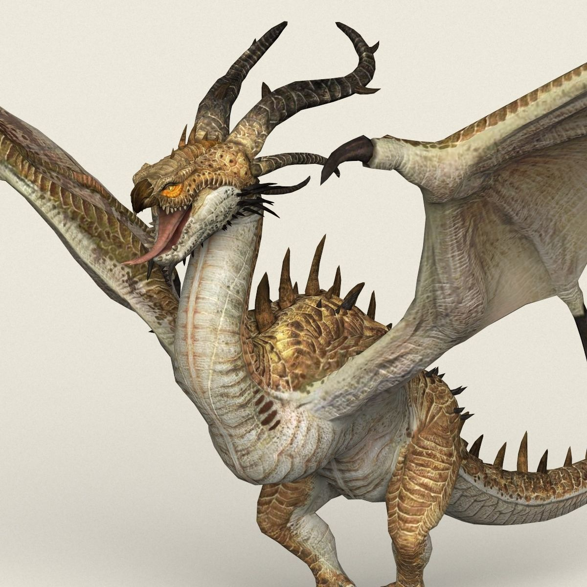 Game Ready Warrior Dragon by monstergallery. Here is game