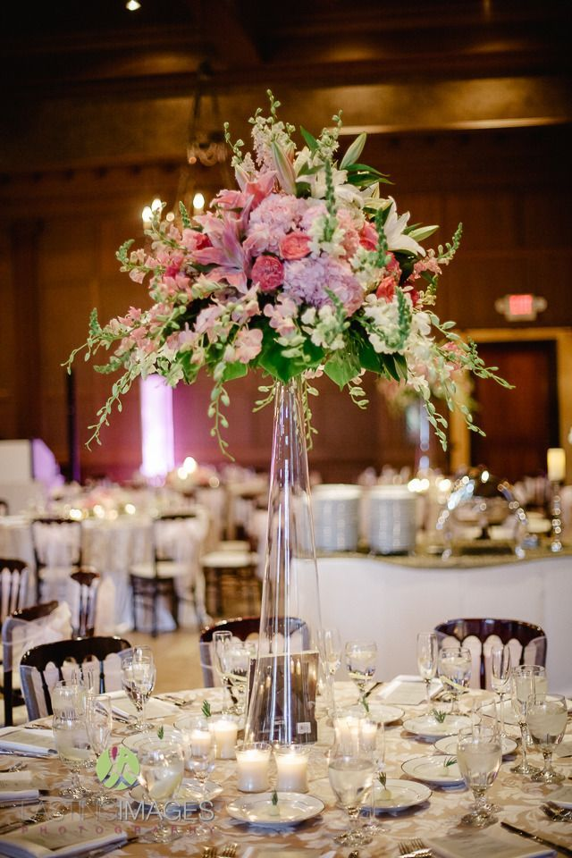 Image Result For Tall Wedding Centerpieces With Orchids Navy Rose
