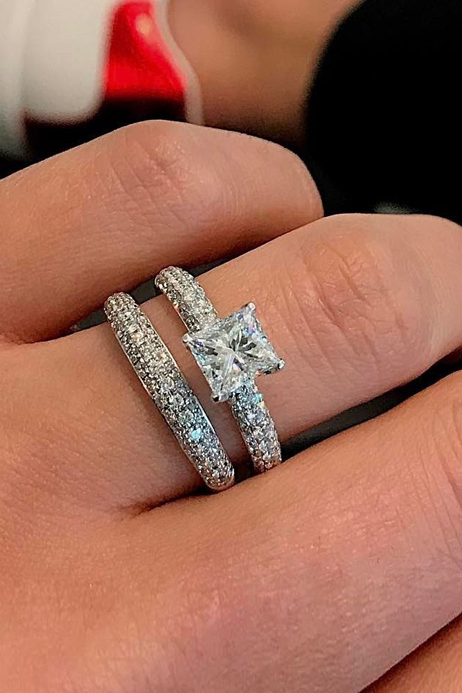 18 Beautiful Wedding Ring Sets For Your Princess Cut Solitaire More On The Blog