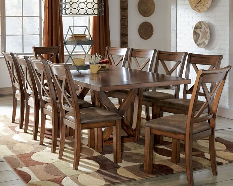 Rustic Dining Room Table Polished Rectangular Wooden Table Sets Magnificent Dining Room Tables That Seat 10 Inspiration Design