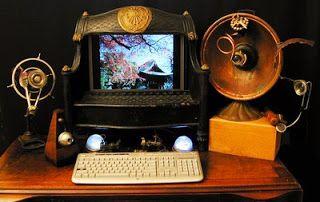Steampunk Desk Set Steampunk Computer Steampunk